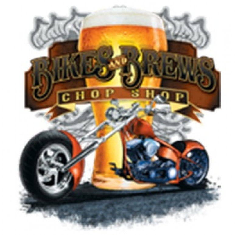 Bikes and Brews Chop Shop Printed T-Shirt