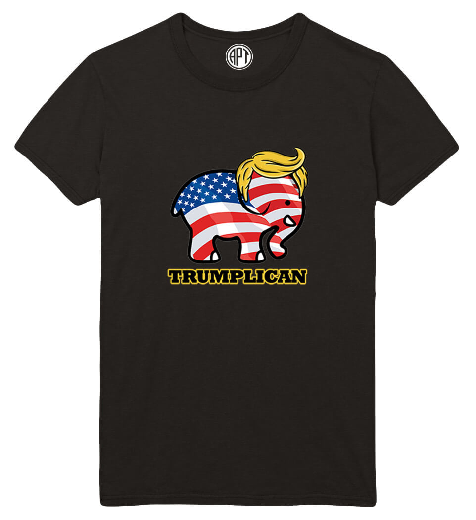 Trumplican Trump Republican Printed T-Shirt-Black