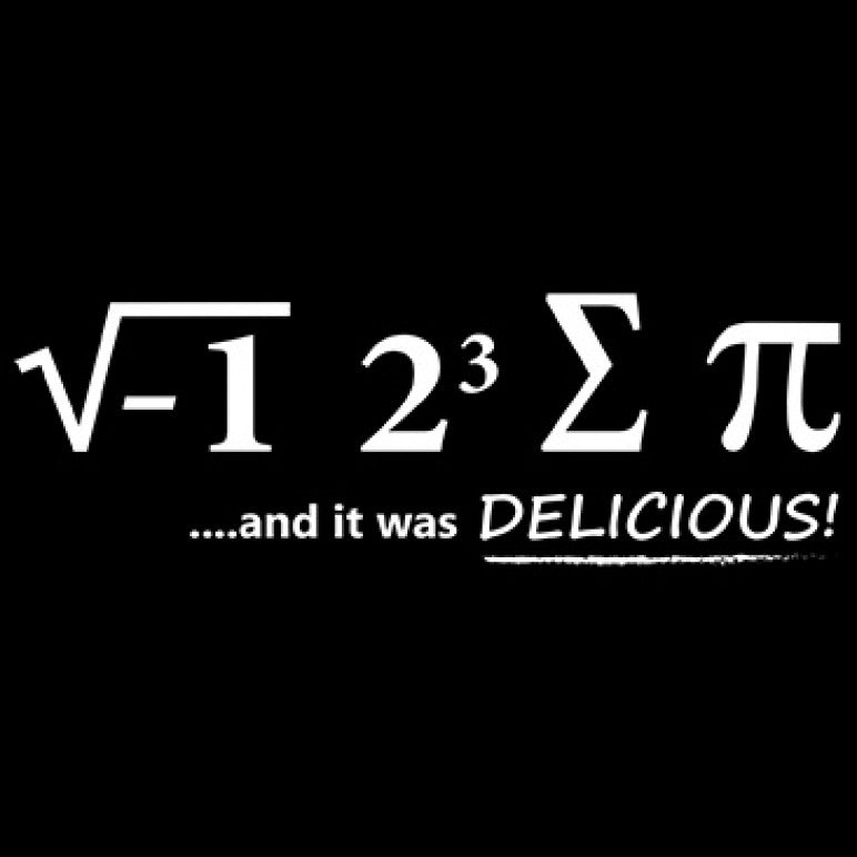 I Ate Some Pi And It Was Delicious Printed T-Shirt