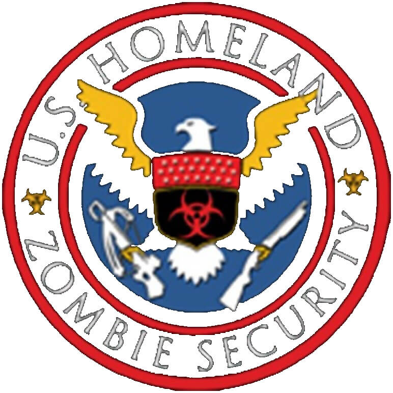 U.S. Homeland Zombie Security Printed T-Shirt Tall