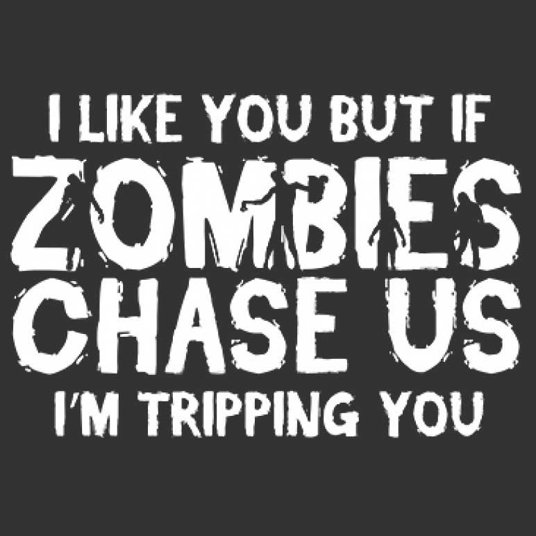 Zombies Chase Us Printed T-Shirt