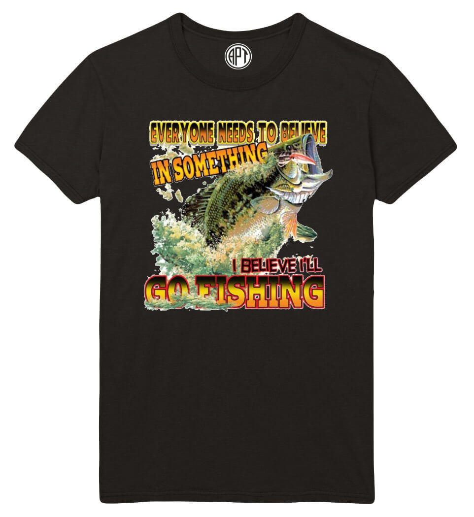 Believe In Bass Fishing Printed T-Shirt Tall
