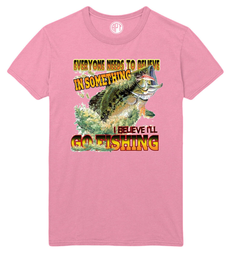Believe In Bass Fishing Printed T-Shirt
