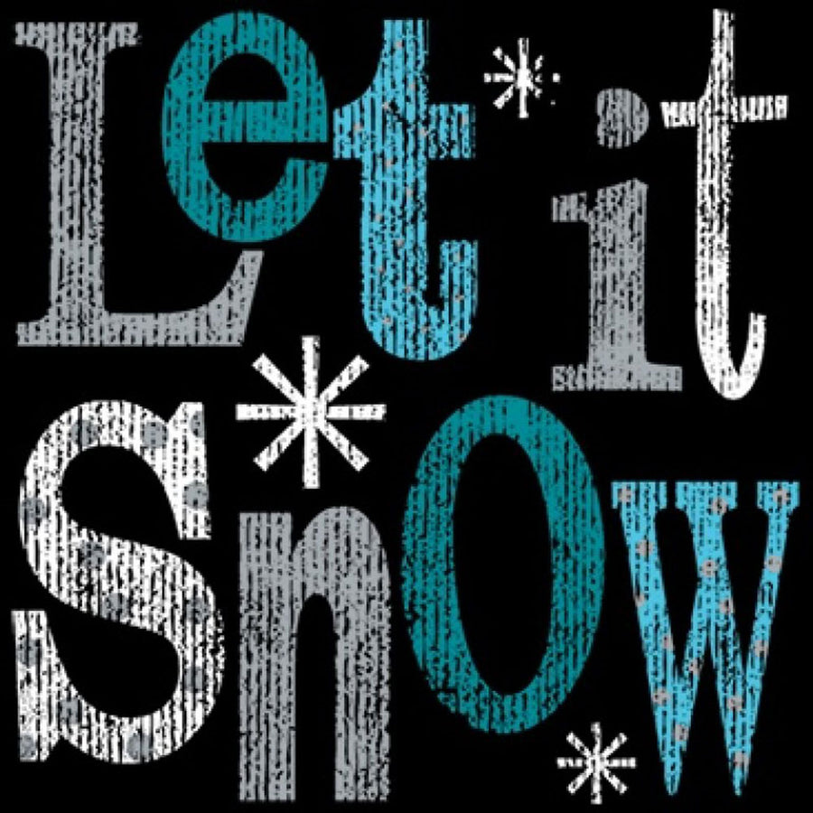 Let It Snow Printed T-Shirt-Black