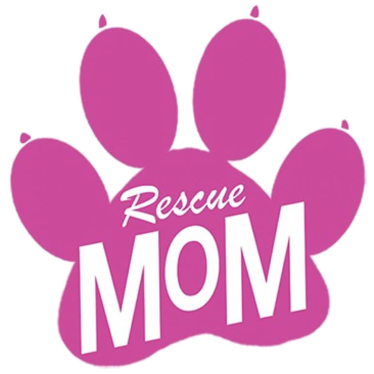 Rescue Mom Neon Printed T-Shirt