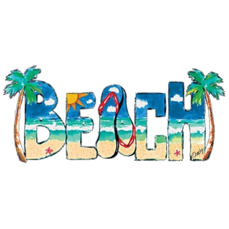 Beach Scene Printed T-Shirt Tall