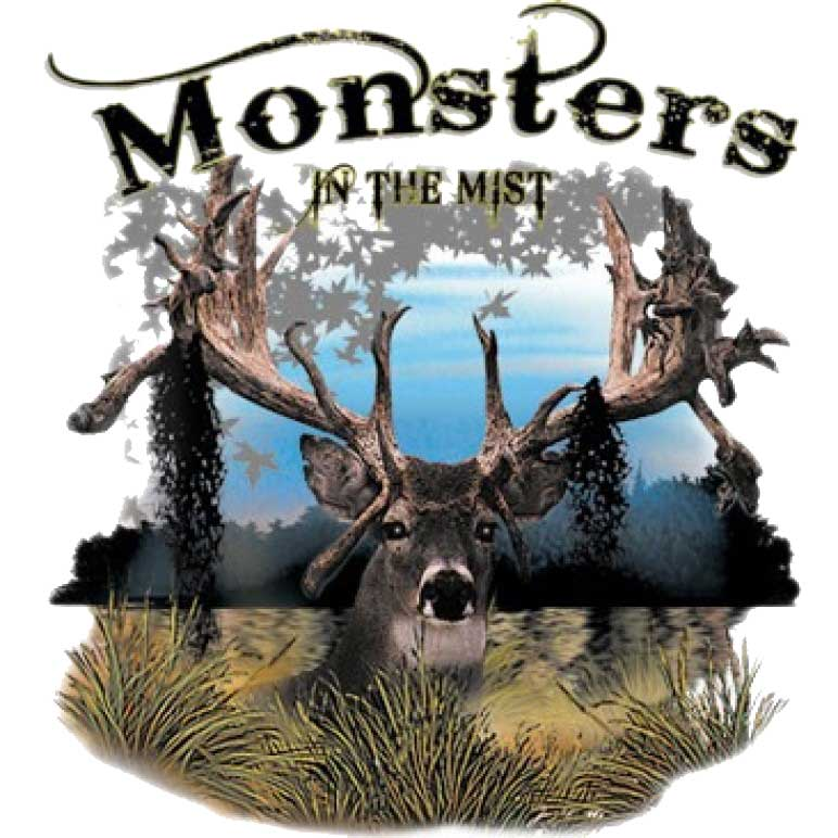 Monsters In The Mist Printed T-Shirt