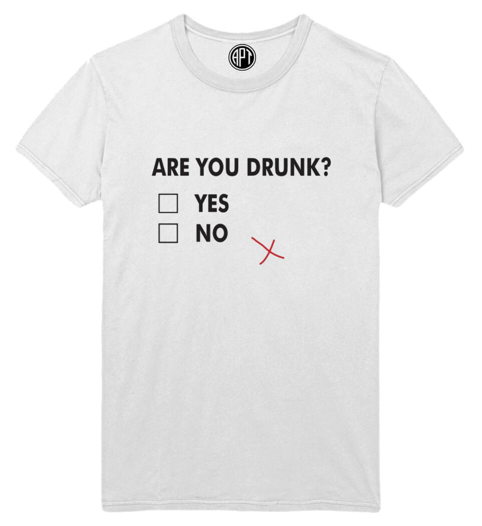 Are You Drunk Printed T-Shirt Tall
