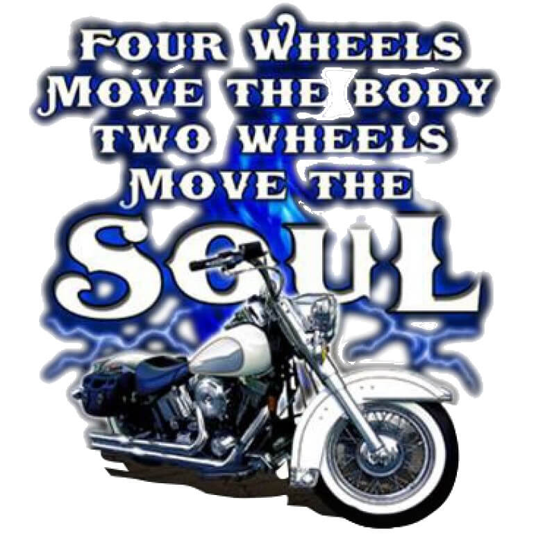 Two Wheels Move The Soul Motorcycle  Printed T-Shirt