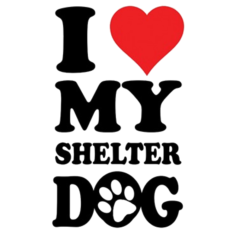 Love My Shelter Dog Printed T-Shirt