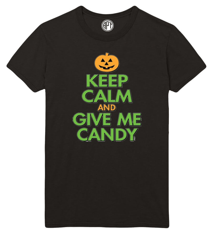 a6584665d Keep Calm and Give Me Candy Halloween Printed T-Shirt
