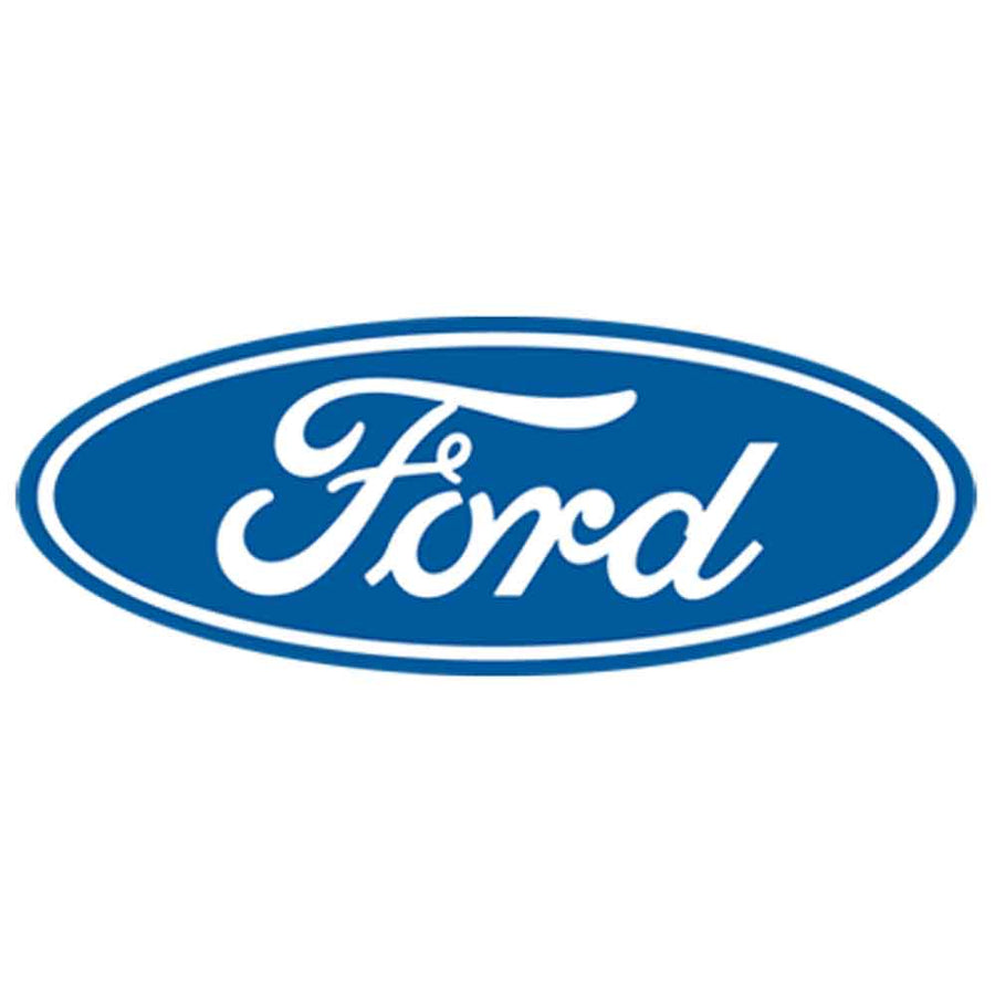 Ford Blue and White Oval Logo Printed T-Shirt-Black