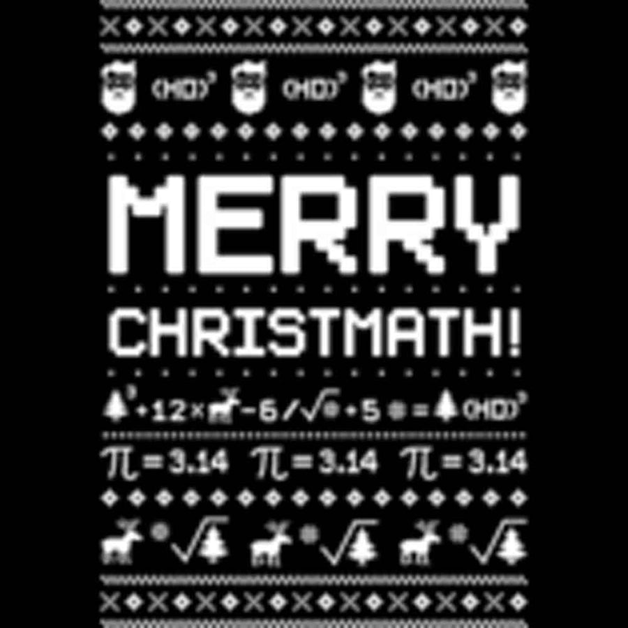 "Ugly Christmath! Christmas ""Sweater"" Printed T-Shirt-Black"