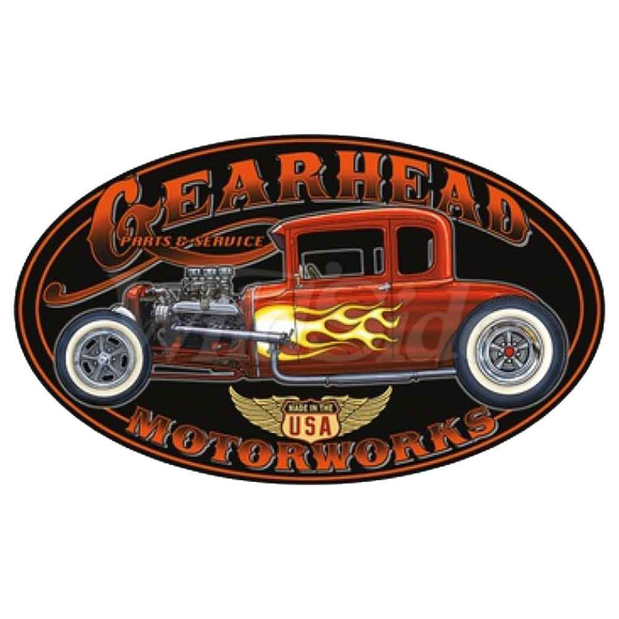 Gearhead Motorworks Hot Rod Printed T-Shirt-Black