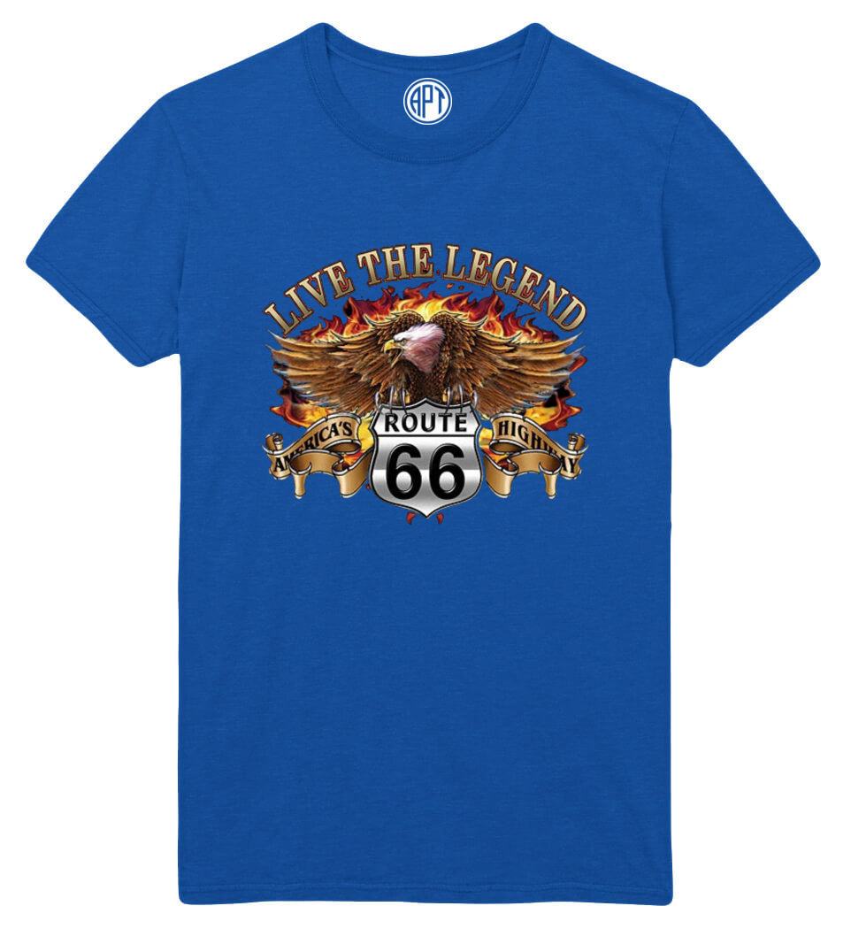 Route 66 Eagle Printed T-Shirt