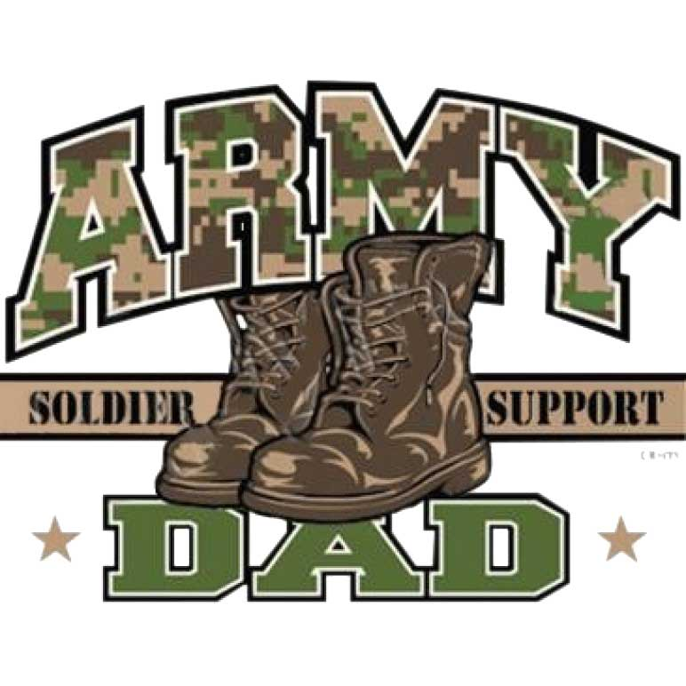 Army Dad Printed T-Shirt Tall
