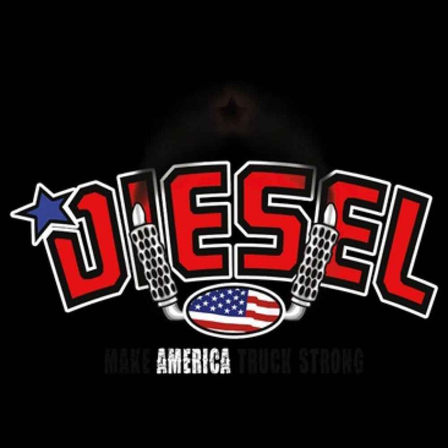 Diesel Trucks Make America Printed T-Shirt-Black
