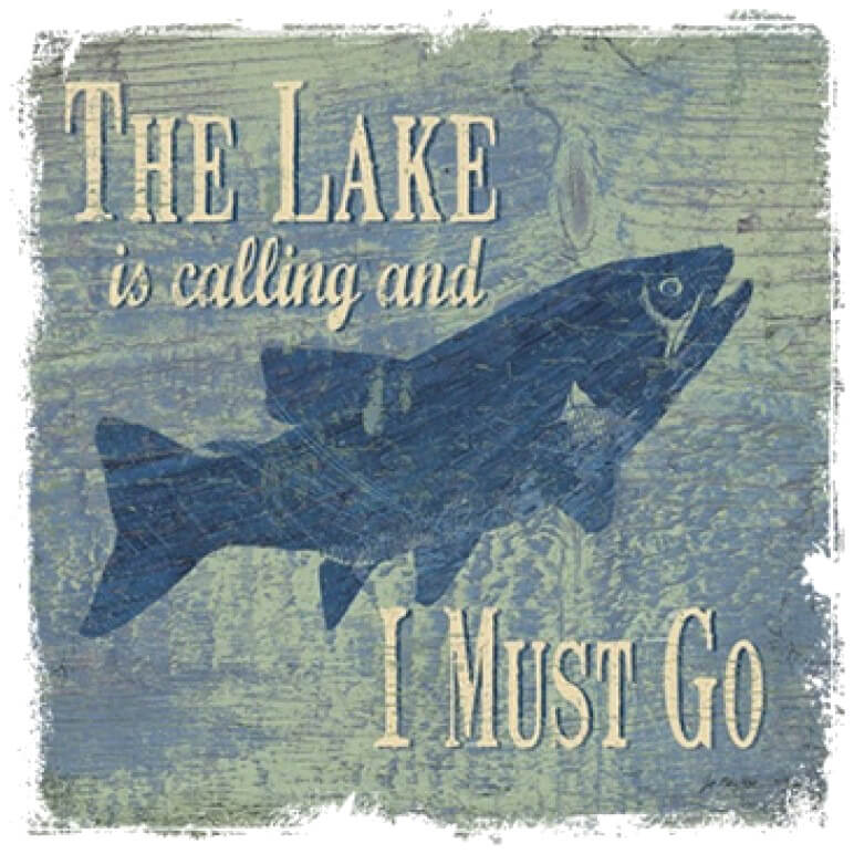The Lake Is Calling Printed T-Shirt