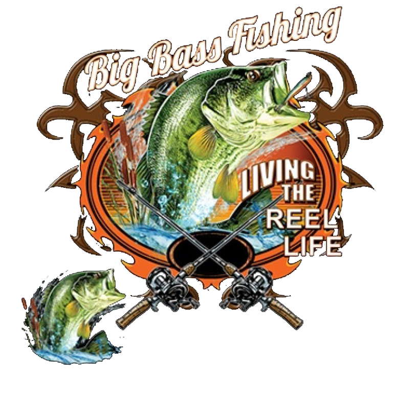 Big Bass Fishing Printed T-Shirt Tall