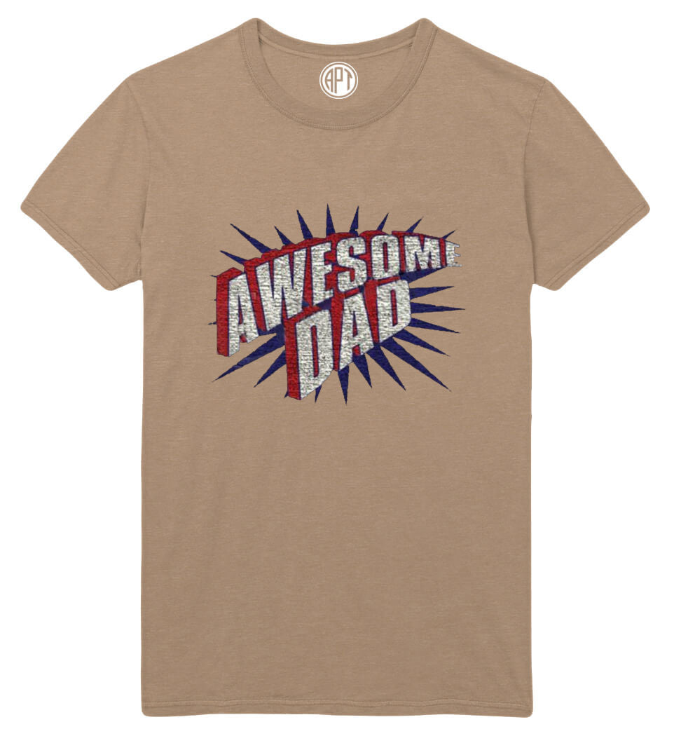Awesome Dad Printed T-Shirt Tall