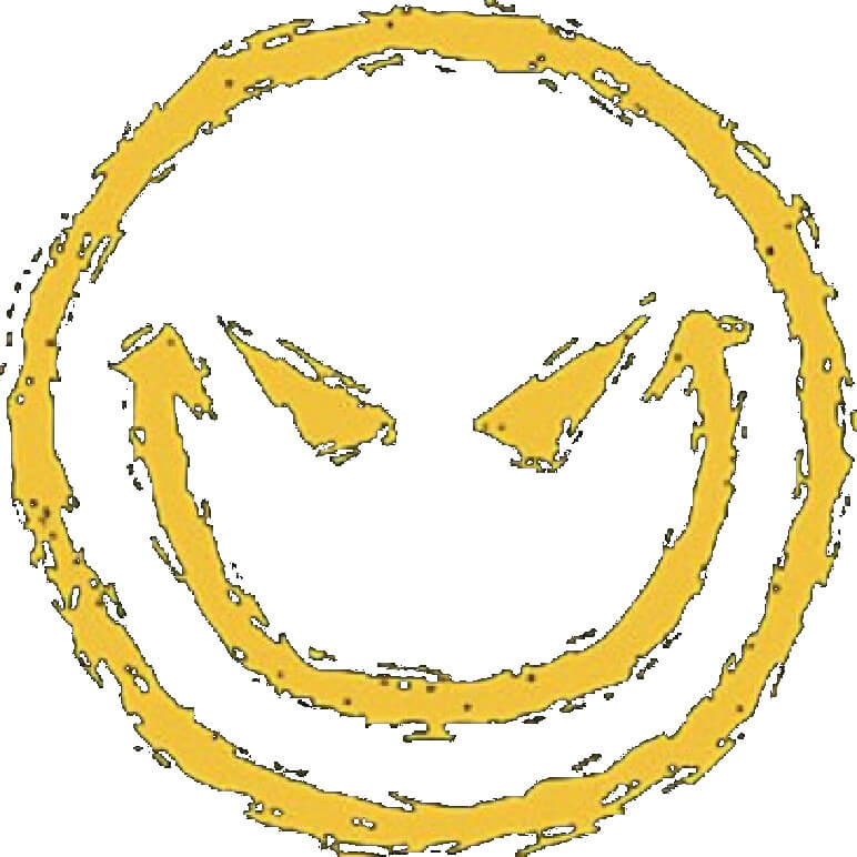 Evil Smiley Face Printed T-Shirt