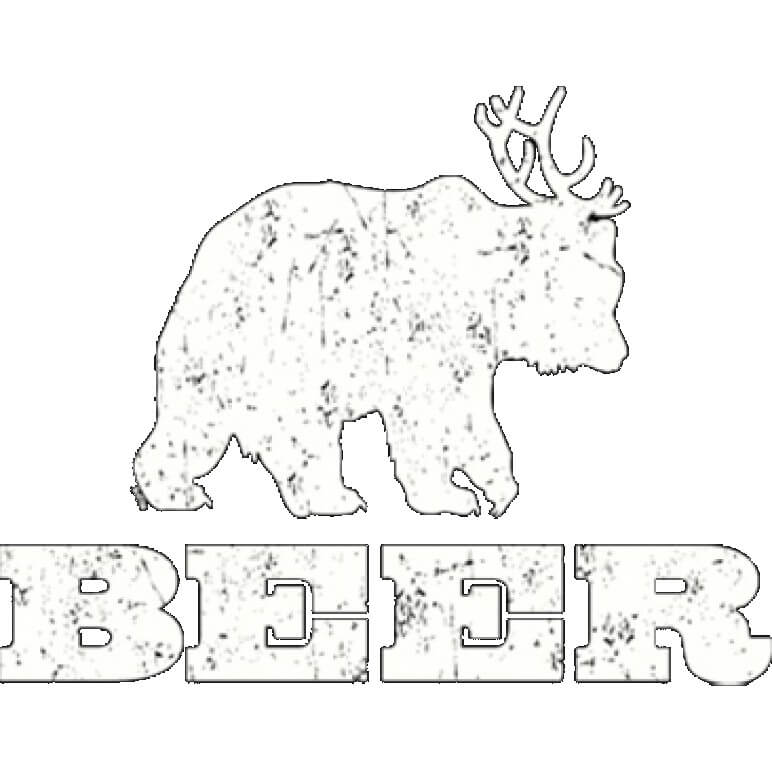 Beer Bear Printed T-Shirt  Tall
