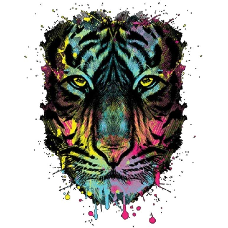Dripping Tiger Printed T-Shirt