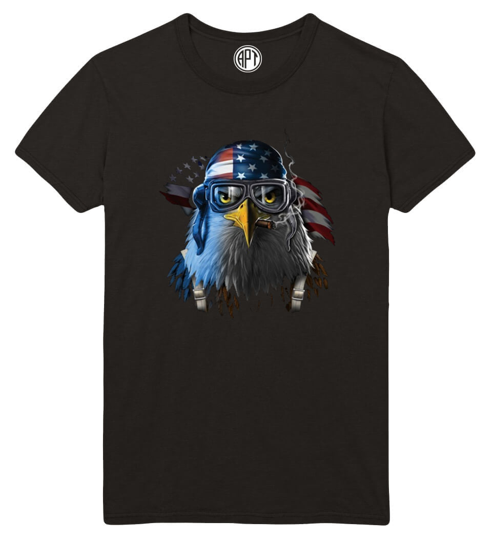 Freedom Fighter Eagle Printed T-Shirt  Tall