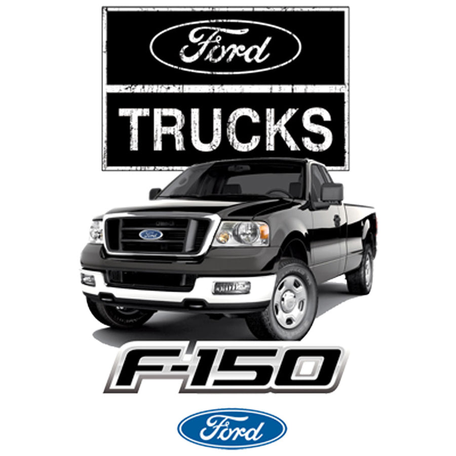 Ford Trucks F-150 Printed T-Shirt-Black