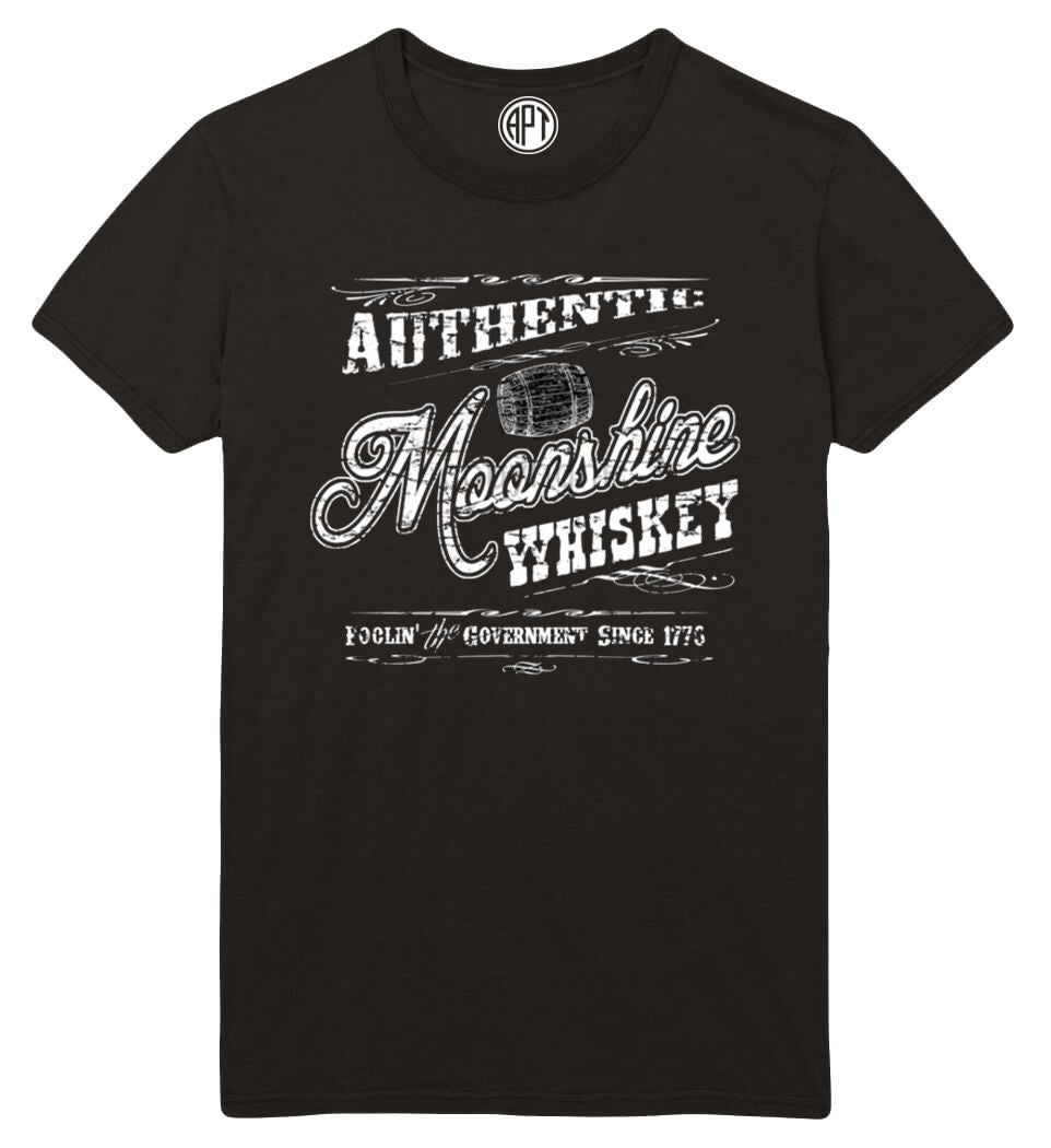 Authentic Moonshine Whiskey Printed T-Shirt