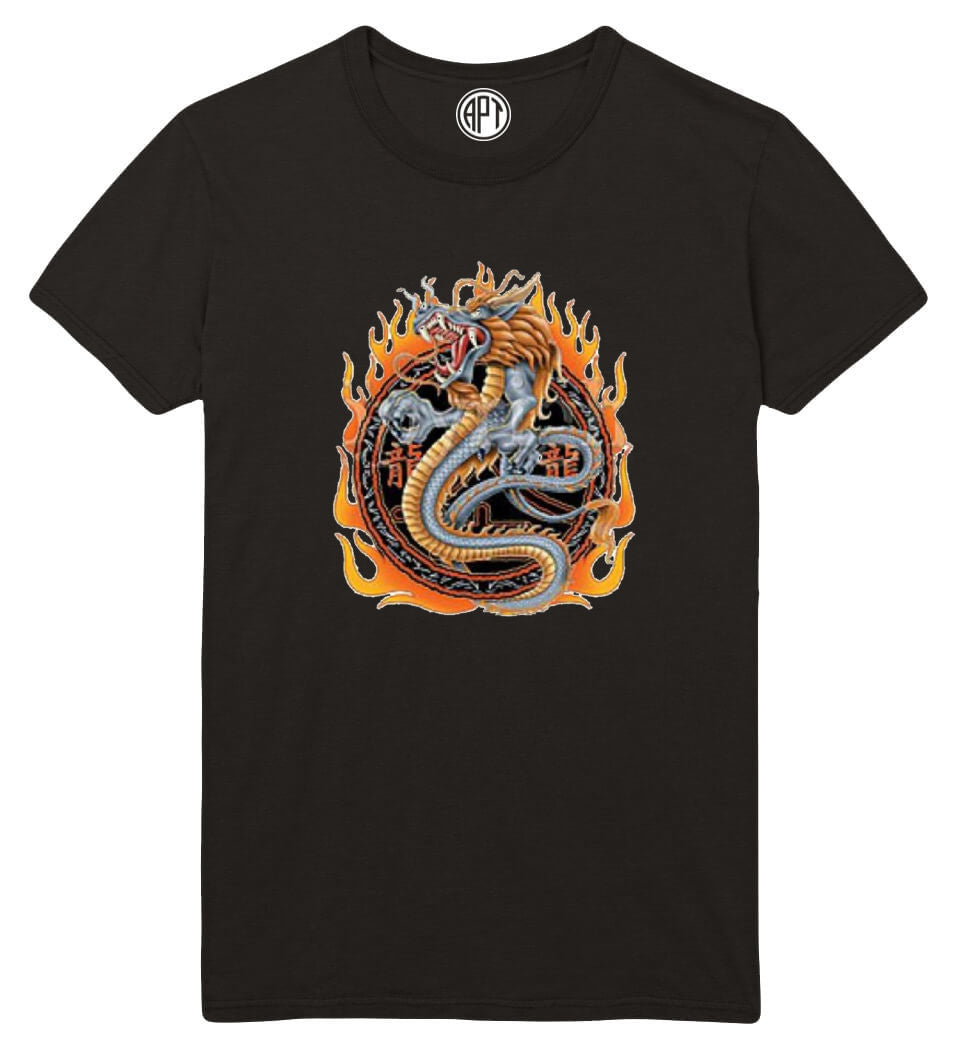 Dragon With Flames Printed T-Shirt  Tall