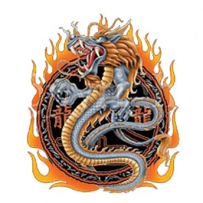 Dragon With Flames Printed T-Shirt