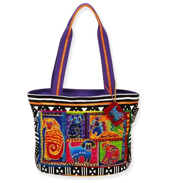 Dog Tails Patchwork Medium Tote by Laurel Burch