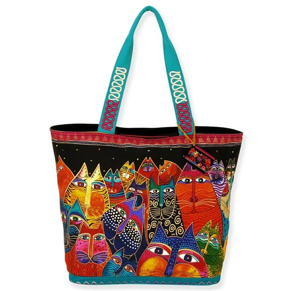 Fantasticats Shoulder Tote by Laurel Burch