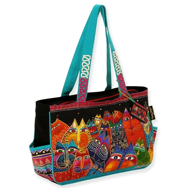 Fantasticats Medium Tote by Laurel Burch