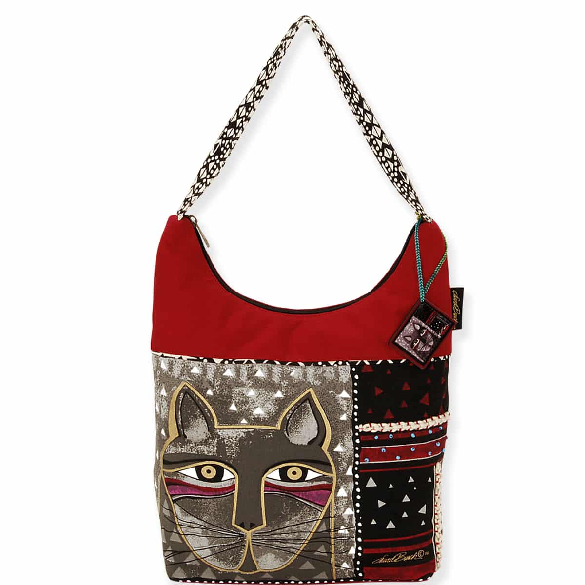 Whiskered Cat Medium Scoop Tote by Laurel Burch