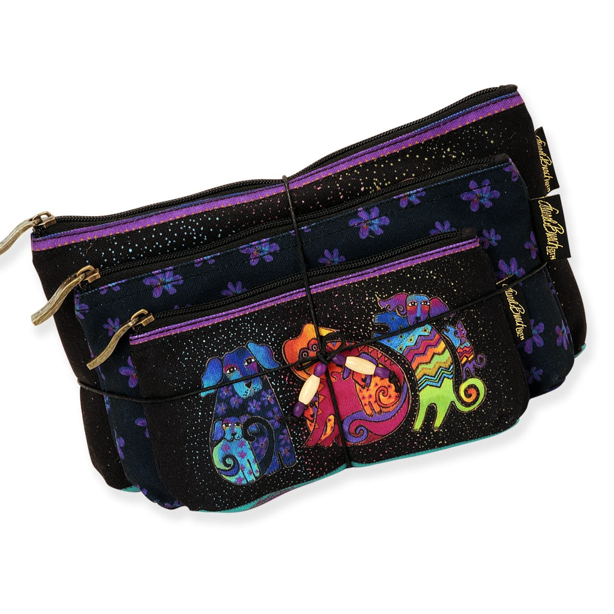 Dog & Doggies  3-In-1 Cosmetic Set by Laurel Burch