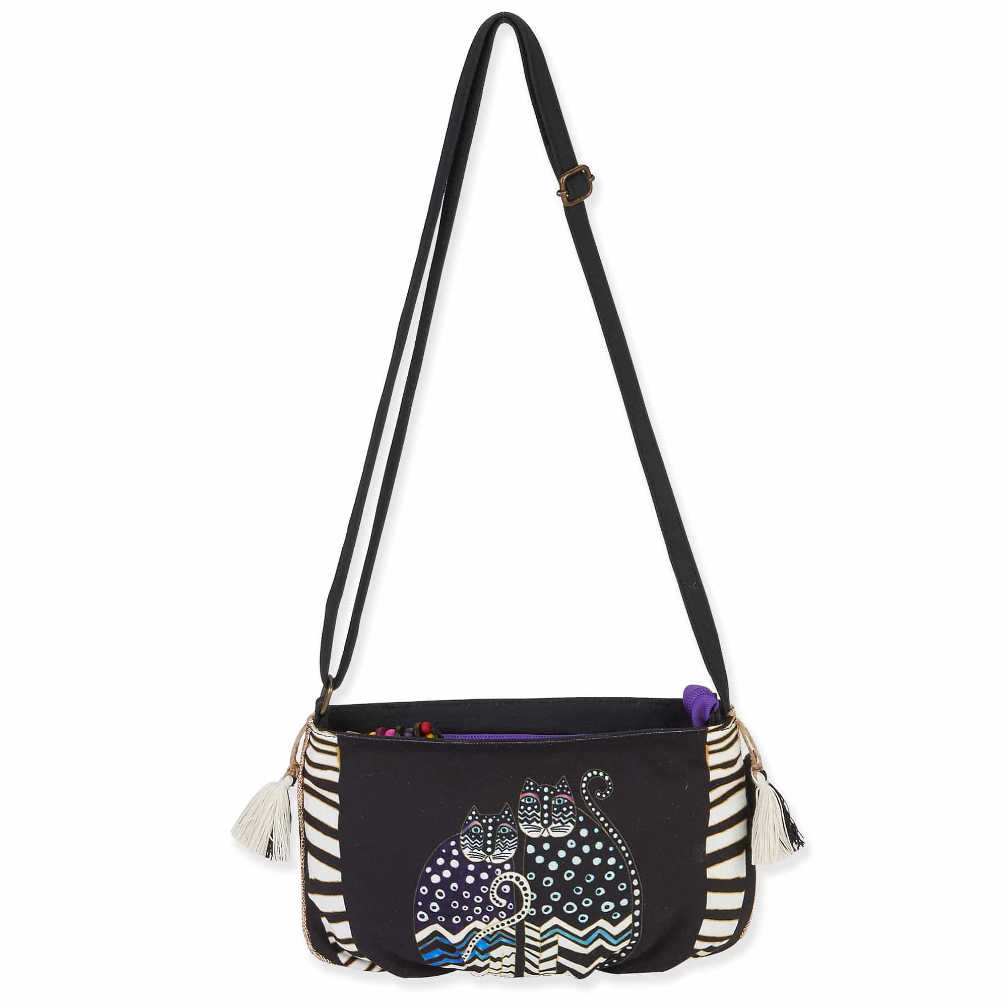 Polka Dot Cats Crossbody by Laurel Burch