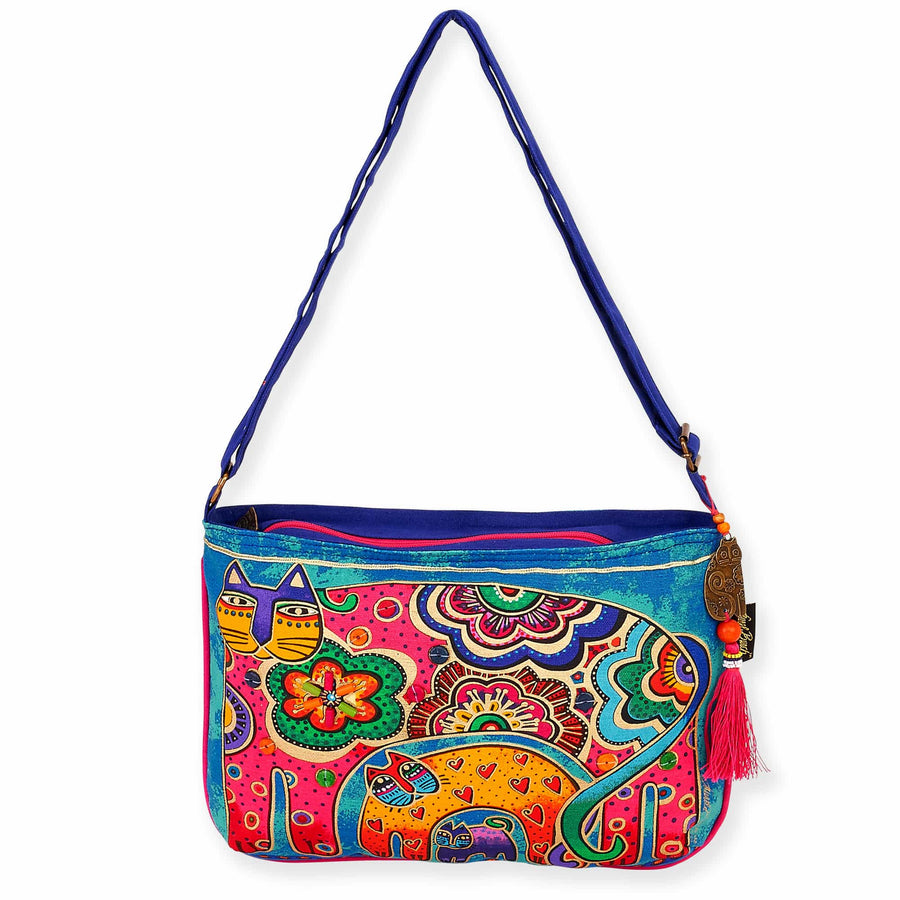 Bohemian Whiskers Medium Crossbody by Laurel Burch