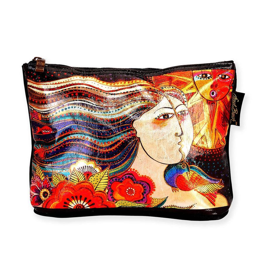 Mikayla Foiled Cosmetic Bag by Laurel Burch