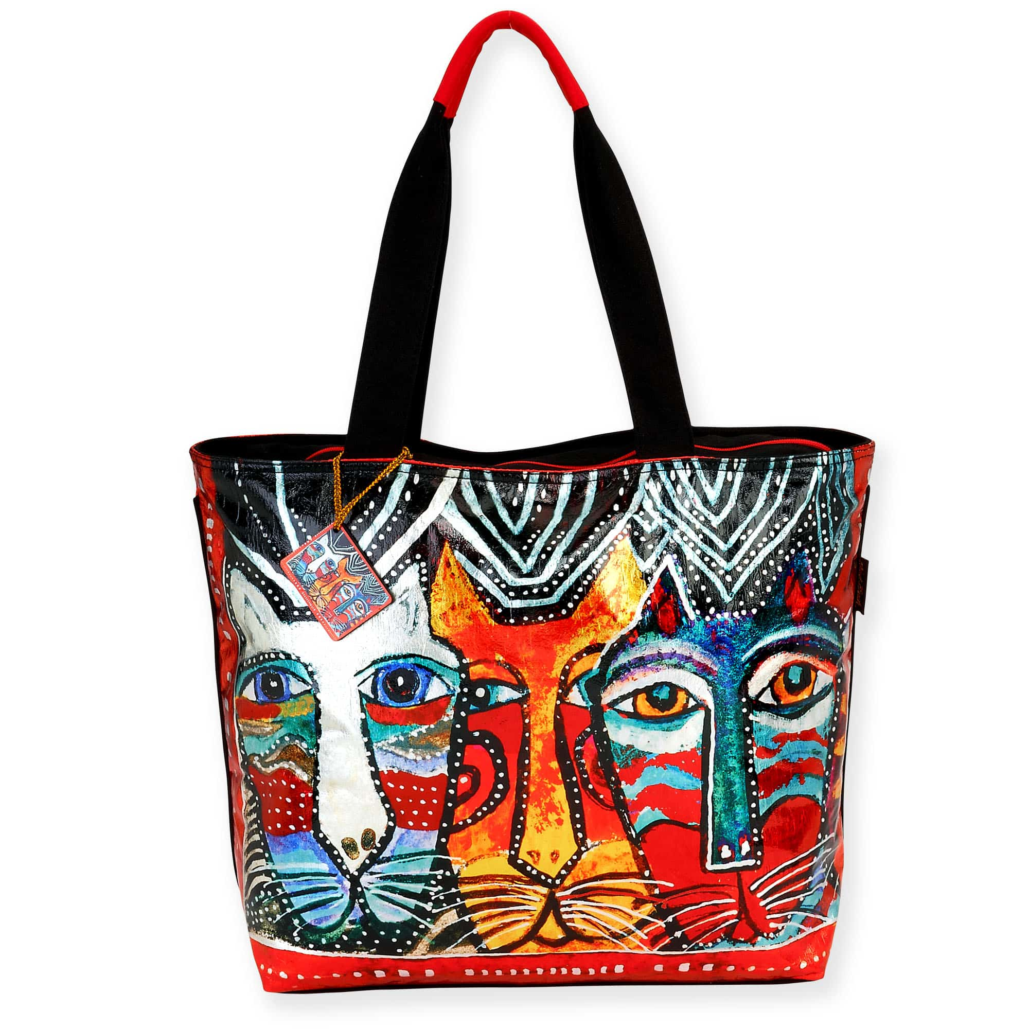 Gatos Shoulder Tote by Laurel Burch