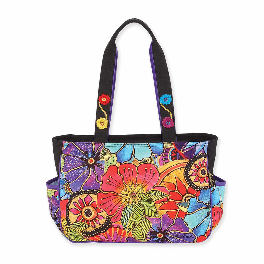 Floral Flora Medium Tote by Laurel Burch