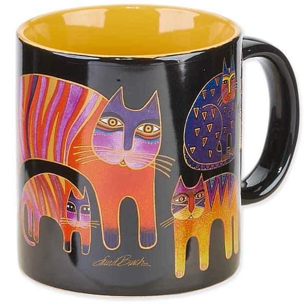 Fantastic Feline Totem Mug by Laurel Burch
