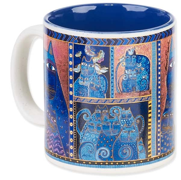 Indigo Cats Portrait Mug by Laurel Burch