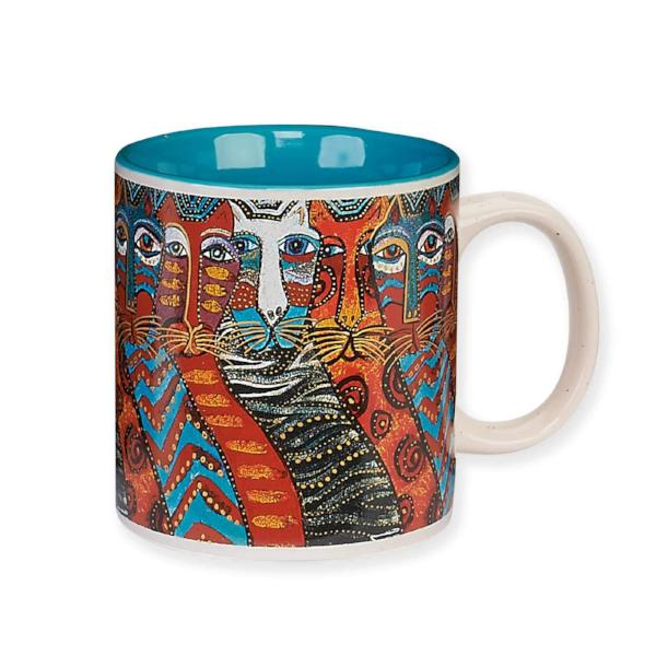 Gatos Mug by Laurel Burch