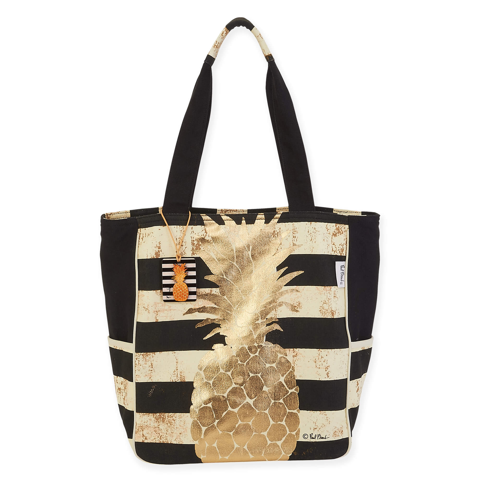 Pineapple Gold Coast N/S Shoulder Tote by Paul Brent - Pineapple