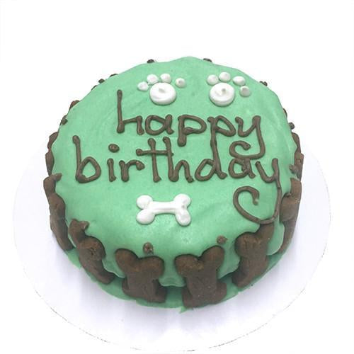 Classic Dog Birthday Cake - Green