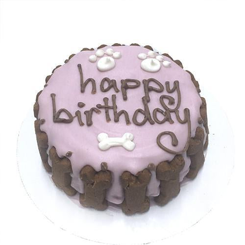 Classic Dog Birthday Cake - Pink