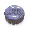 Classic Dog Birthday Cake - Purple