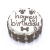 Classic Dog Birthday Cake - White